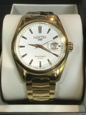 ROAMER Searock Swiss Men's Date Gold Tone Automatic 25J Watch 210633 10ATM 42mm