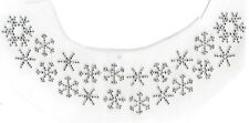 Snow Snowflake Neckline Rhinestone Bling Design Hot Fix Iron On Transfer Motif