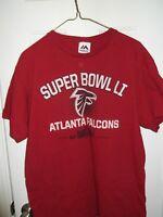 Men's Atlanta Falcons Majestic NFL Super Bowl LI 51T-Shirt RedSizeL