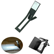 Black Flexible Folding LED Clip On Reading Book Light Lamp For Reader Kindle New
