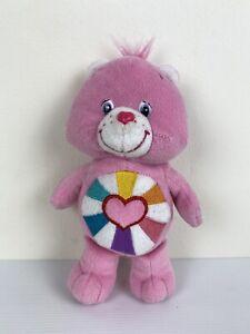 "Care Bears Hopeful Heart Bear 8"" Vintage 2006 TCFC Small Beanie Soft Toy Plush"