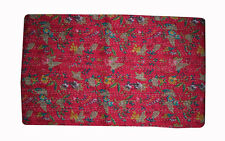Pink dye HAND Block Print Kantha Bed Throw Bedding Quilt Bed Cover Bedspread Bed