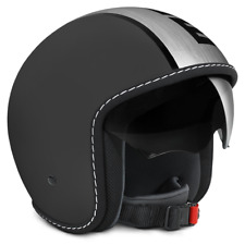 CASCO MOMO DESIGN BLADE FROST BLACK - SATINATO VISIERINO A SCOMPARSA TG. ML