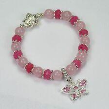 Handmade Rose Quartz Natural Stone Costume Jewellery