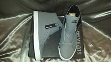 SUPRA THUNDER GREY WAXED CANVAS MENS SHOES SIZE 12 NEW IN BOX