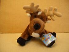 GANZ WEBKINZ  Reindeer Soft Plush New w/Code 8'' Brown/White