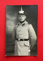 Militär Foto AK Porträt Soldat mit Pickelhaube ( 54236