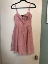 H&M RED & WHITE STRIPE DRESS WITH BOW SIZE 4