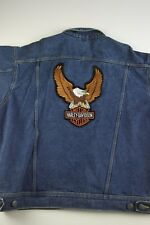 Vintage Harley Davidson Denim Jacket Size XL Dark Wash Motorcycle