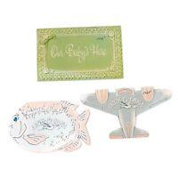 Vtg Lot Of 3 Mid Century BITRH-O-GRAM Cards Baby Announcement Ephemera Stork