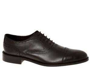 Bernard Weatherill Savile Row Dark Brown Leather Brogue Shoes Mens Size UK 10