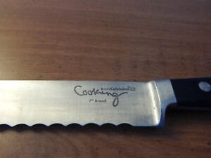 "Cooking with Calphalon Full Forged With German Steel  7"" Bread Knife"