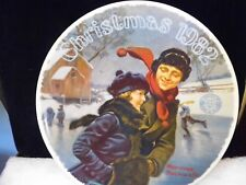 Vintage Norman Rockwell Christmas Courtship 1982 Collectors Plate Coa