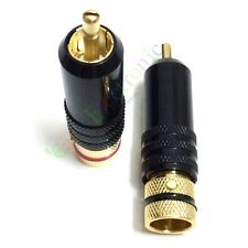 20pcs Gold plated RCA Plug Male Screw Locking tube Audio cable Grade Connector