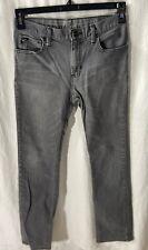 Vans Boys Gray Slim Straight Jeans Size 16