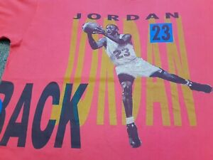 VTG 90s NIKE Michael Jordan Scottie Pippen BACK 2 BACK Double Sided T Shirt XL