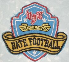 """Hate Football Patch - Bores Me To Death - 3 1/2"""" x 3 1/4"""""""