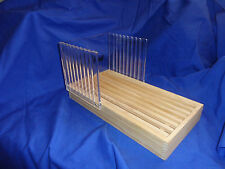 Bread Slicing Guide Wood Acrylic Loaf Slicer Crumb Catcher Excellent Nouse Gift