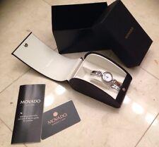 Movado Vivo Diamond Accents Ladies Swiss Bangle Watch 8421160 Retail $995