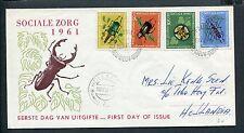 Ned.Nieuw Guinea FDC E7 - E 7, Sociale Zorg 1961, met adres, ds Hollandia 7