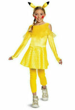 Pokemon Pikachu Dress Girls Halloween Cosplay Costume Large 10-12