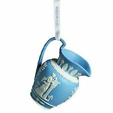 Wedgwood Blue Iconic Pitcher Porcelain Christmas Ornament