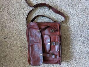 Handmade Men's Vintage Leather Satchel Messenger Bag