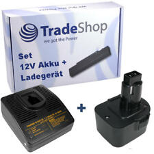 2in1 set de batería 12v 3300mah + cargador para DeWalt 39774501 de9501 dc9071 de9037