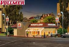 Vollmer H0 43632 Burger King Fast Food Restaurant with LED Lighting - NIP