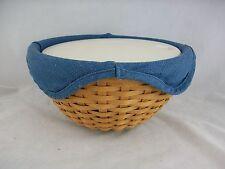 Longaberger 2003 9' Bowl Basket Combo w Lidded Insert Cornflower