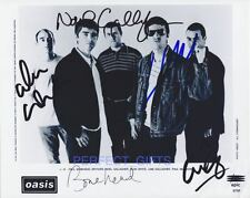 Oasis Band X5 Signed 10x8 PP Repro Photo Liam Noel Gallagher