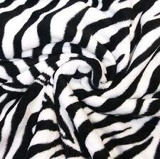 Soft Black & White Zebra Stripe Anti Pill Polar Fleece Fabric *Per Metre