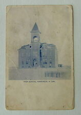 1907 POSTCARD THE OLD HIGH SCHOOL HANKINSON NORTH DAKOTA ND