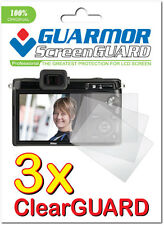3x Clear LCD Screen Protector Guard Cover Film for Camera Nikon 1 V1