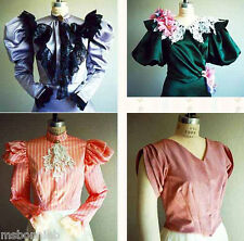 1890s Victorian Blouse Waist 6 Views size 4-26 Laughing Moon Sewing Pattern 103