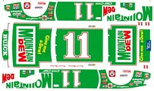 #11 Darrell Waltrip Mountain Dew 1985 Buick 1/64th Ho Scale Waterslide Decals