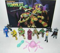 Teenage Mutant Ninja Turtles Figure Set of 12 Shredder, April, the Mutagen Etc