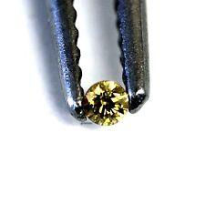 loose individual round diamond melee 1.5mm yellow 0.02ct vintage estate antique
