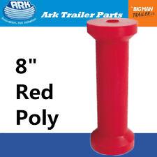 "Ark 8"" Keel Roller Red Soft Poly 203mm Width 17mm Bore UV STBL (3241)"