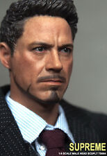 SUPREME 1/6 Iron Man Tony Robert Downey Head Sculpt Model F/12 Male Figure Body