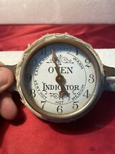Antique Vintage Oven Door Thermometer Gage For Wood Coal Stove