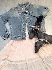ZARA Women's Denim Jacket(Indigo,  US L/EUR L)