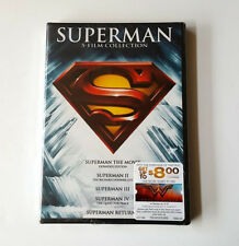 Superman 5 Film Collection on DVD - Brand New- Lot of 10