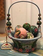Jim Shore Enesco -Blossoms Of Spring- Basket With 7 Egg Blossoms 2007- 4009235