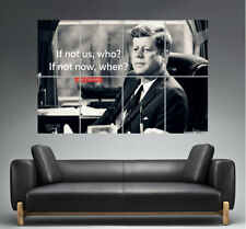 John Kennedy JFK President Quote Wall Art Poster Great format A0