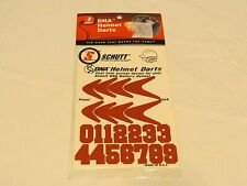 Schutt DNA Darts Baseball helmet stickers numbers accent decals red batters gear