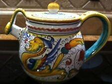 Deruta Majolica Italian Pottery - Raffaellesco TEAPOT