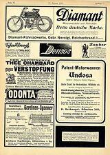 Diamant- Fahrradwerke Reichenbrand Motorzweirad Tirol Riva am Gardasee An...1904