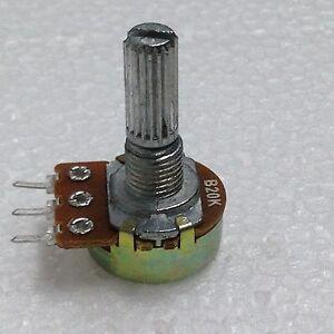 10 pz POTENZIOMETRO 20K LINEARE MONOGIRO 20KOHM B20K trimmer potentiometer 15mm