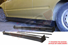 1996 2000 Honda Civic EK Sedan Zero Style Side Skirt Unpainted Black Plastic Set